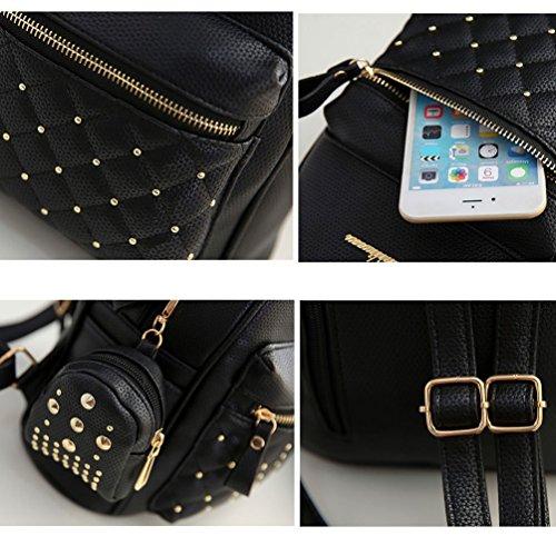 VBIGER - Bolso mochila  para mujer Negro negro negro