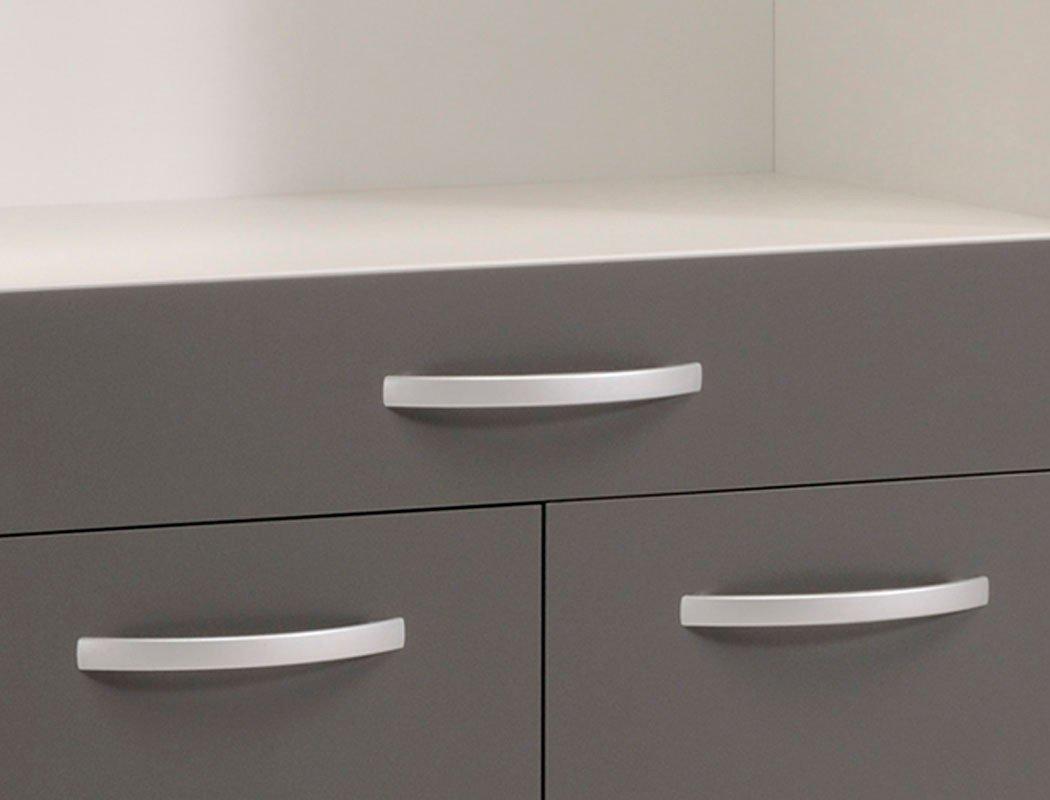 Küchenschrank Opika 4 80x185x43 cm weiß grau Schrank Highboard ... | {Küchenschrank grau 0}