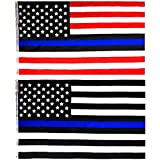 IsPerfect 3x5ft Thin Blue Line USA American Flag(2pack) - Vivid Color and ...