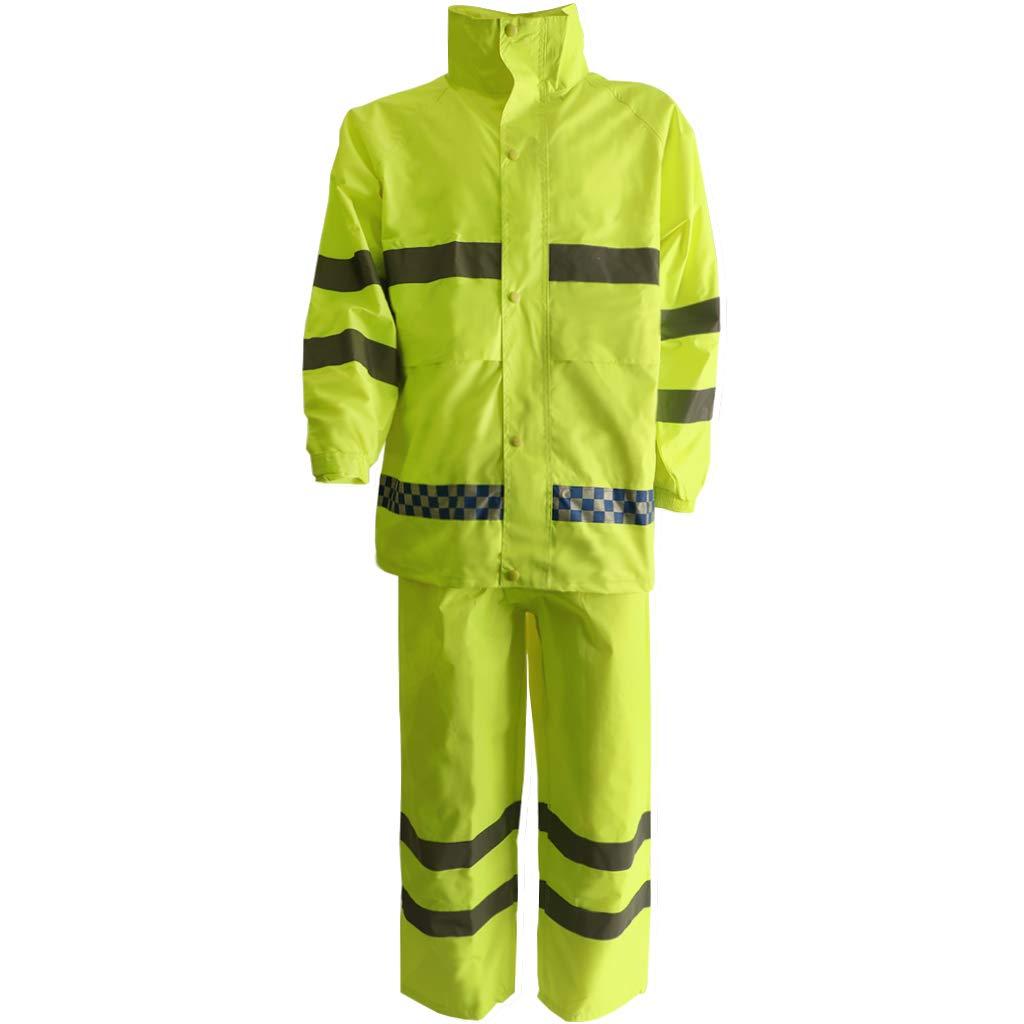 Flameer Reflective Raincoat Waterproof Rainwear Hood Jacket Outdoor Coat Pants Zipper Design - XXL by Flameer (Image #4)