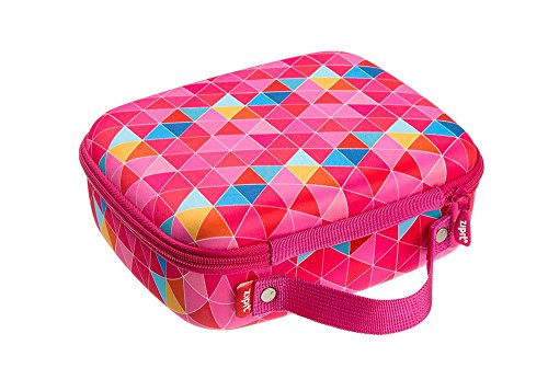 ZIPIT Colorz Jumbo Large Storage Box, Pink Triangles Photo #4