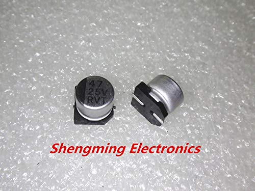 20pcs 25V 47UF SMD 6x5mm chip Aluminum Electrolytic Capacitor 65