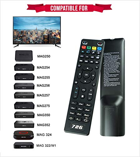 726 Replacement Remote Control for TV Box Mag254 Mag250 Mag256 MAG 250 254  256 255 256 257 275 322 349 350 351 352 OTT IPTV Set Top Box
