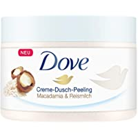Dove Creme-Dusch-Peeling Macadamia & Reismilch, 4er Pack (4 x 225 ml)