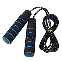 MAXSOINS High Quality Adjustable Jump Rope with Counter Competitive Skipping Stripe for Fitness Training Gym Weight Loss Tool Woman Kids Workout Exercise Sponge Soft & Comfortable Handles