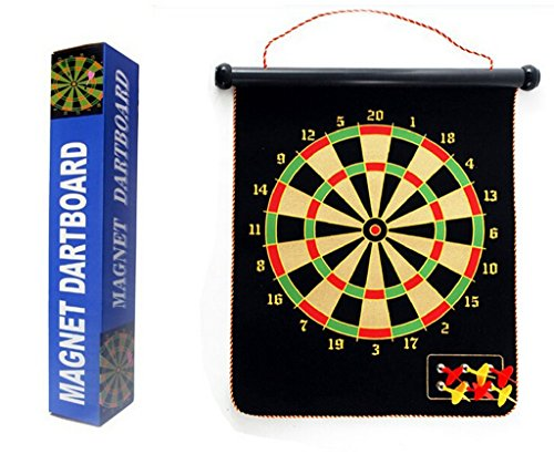 (Magnetic Roll-up Dart Board and Bullseye Game w/ Darts)