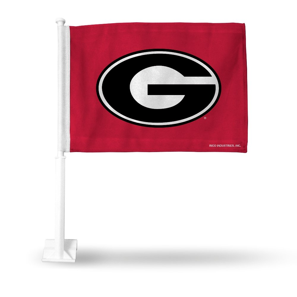 Rico Georgia Bulldogs NCAA Licensed 11X14 Window Mount 2-Sided Car Flag