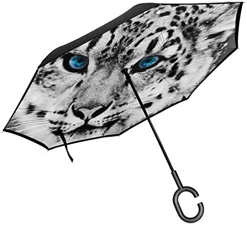 タイガ 逆さ傘 逆折り式傘 車用傘 耐風 撥水 遮光遮熱 大きい 手離れC型手元 梅雨 紫外線対策 晴雨兼用 ビジネス用 車用 UVカット