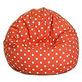 Majestic Home Goods Orange Ikat Dot Small Bean Bag