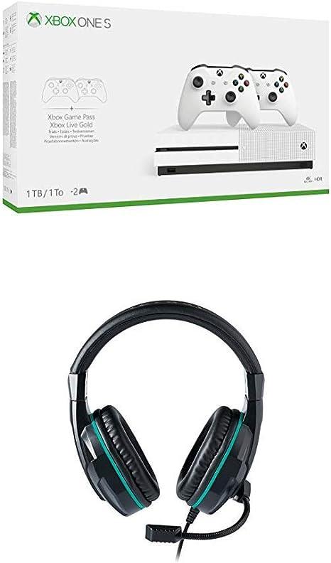 Xbox One S - Consola 1 TB, 2 Mandos y 3 MGP + Auriculares Nacon ...