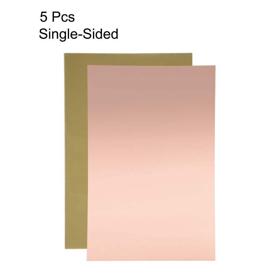 5pcs 200x150mm Double-Sided Sourcingmap revestimiento de cobre Placa de circuito PCB