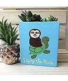 Sloth Turtle Painted Wood Box, Cute Succulent Planter