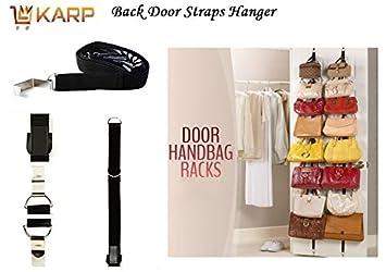 Handbag Organizer   Over The Door Adjustable Straps 16 Hooks For Hanging  Purse Clothes Scarves Handbag