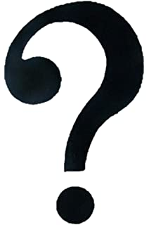 Question Mark Iron On Comic Con Cosplay Costume Patches 3 Black Fabric 25 Per