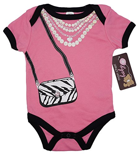 THE GLAMOUR GIRL Funny Baby Girl Boy Unisex Infant One Piece Funny Dress Up BodySuits(0-3)