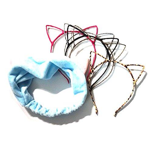 Manc GG Boutique Cat Ear Headband Headwear Hair Head Bands Hair Accessories for Women and Girls - Ear Headwear