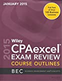 img - for 2015 Wiley CPAexcel Exam Review, Course Outlines - Business Environment and Concepts (Janauary 2015) book / textbook / text book