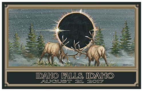 Eclipse Idaho Falls Idaho Giclee Travel Art Poster by Artist (24 x 36 inch) Art Print for Bedroom, Family Room, Kitchen, Dorm Room or Office Wall - Falls Idaho Mall