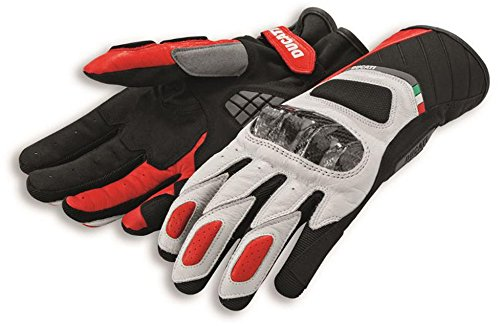 Ducati Sport C3 Gauntlent Style Glove by Spidi Black & White XX-Large by Ducati