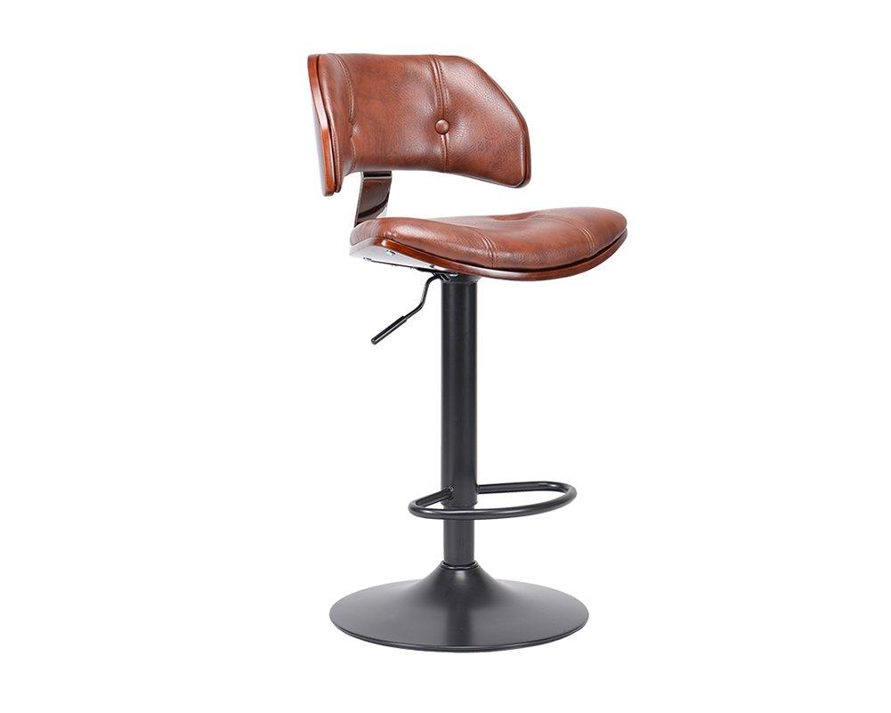 回転バーの椅子、高品質のPUヴィンテージフロントデスクチェアファッションスツールハイスツールバーカウンター87-108センチメートル高い (色 : Brown pu-2) B07F1C5VV3 Brown pu-2 Brown pu-2