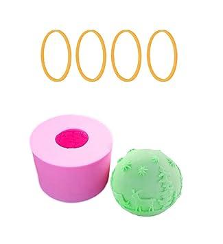 Homankit Moldes de Silicona para Velas de Navidad, moldes para jabón, moldes para Hornear, Ideal para Hacer Velas, Hacer jabón y Hornear, Ball: Amazon.es: ...