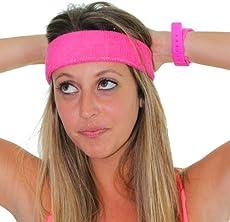 Extreme 80 s Neon Pink Headband Unisex-Adult 5b3e2c9d959