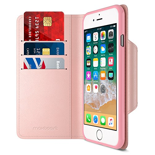 Maxboost iPhone 8 Wallet Case [Folio Style] [Stand