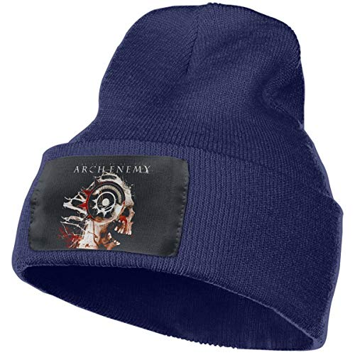 Kangtians Qnchkopd Men&Women Arch Enemy The Root of All Evil Cuffed Beanie Hat Skull Knit Hat Skull Cap for Men and Women Navy