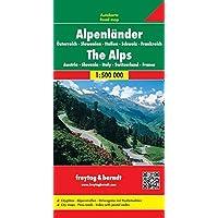 Alpenländer (A, CH, F, I, SLO), Autokarte 1:500.000, freytag & berndt Auto + Freizeitkarten