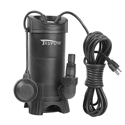 Sewage Water - Trupow 1HP 110V Submersible Electric Plastic Sewage Drain Flood Clean/Dirty Water Sump Transfer Pond Garden Pump