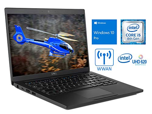 Dell Latitude 7390 Laptop, 13.3″ FHD Touch Display, Intel Core i5-8350U Upto 3.6GHz, 8GB RAM, 256GB SSD, DisplayPort via USB-C, HDMI, Qualcomm WWAN, Wi-Fi, Bluetooth, Windows 10 Pro (Renewed)