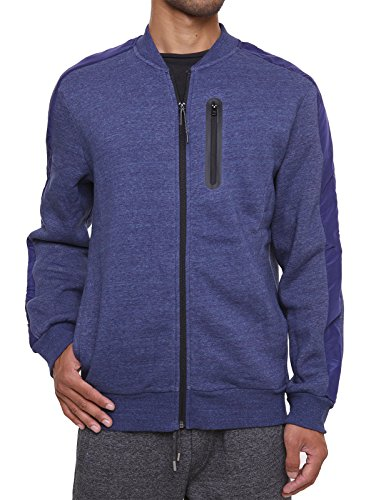 FORBIDEFENSE Fleece Sweatshirt Jacket Dotswarm Sweater-Comfort Front Zip Jacket Cozy Sport Outwear Casual,Thunder Melange,X-Large
