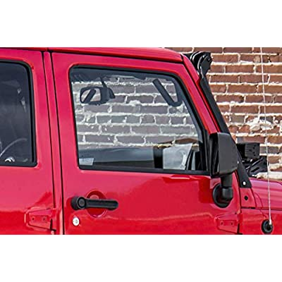 Rough Country Black Steel Front Grab Handles Compatible w/ 2007-2020 Jeep Wrangler JK 7/8