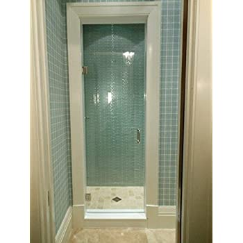 24 Quot 28 Quot Frameless Shower Door With Brushed Nickel Or Chrome Hardware Combo Amazon Com