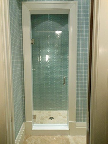 24''-28'' Frameless Shower Door with Brushed Nickel or Chrome Hardware Combo by Tropical Art Glass Inc.