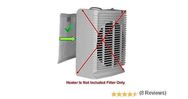 pollentec purificador de aire Filtro electrostático, mantener tu interior de cerámica eléctrica portátil calentador de ambiente, limpia y funcionamiento eficaz, filtros 98% polen en el aire, reutilizable y lavable, Holmes HFH110-111: Amazon.es: