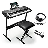 Hamzer 61-Key Portable Electronic Keyboard Piano with Stand, Stool,...