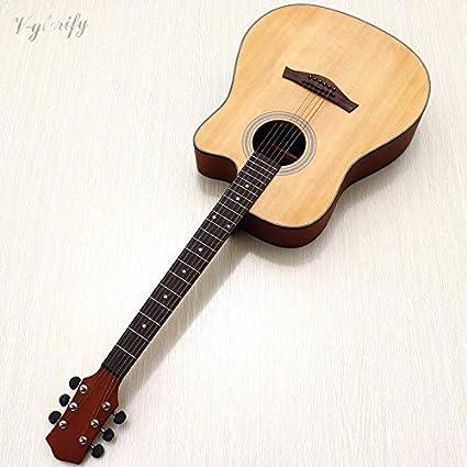 Guitarra acústica Cutwa de 41 pulgadas, 21 trastes, 6 cuerdas ...
