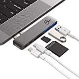 USB C Hub Certified for Apple MacBook Air 2018, MacBook Pro 2018, 2017, 2016 - USBC Adapter, Premium MacStick, Thunderbolt 3, 5K@60Hz, Type C, 2 USB 3.0, SD and Micro SD Card Reader, Multiport Dongle