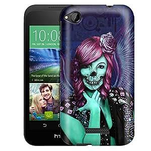 HTC Desire 320 Case, Slim Fit Snap On Cover by Trek Groupie Skull Case