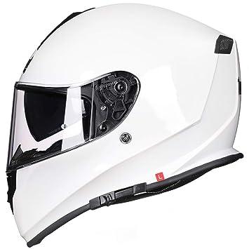 WKNBEU Motocicletas Cascos De Seguridad Motocicletas De Época Casco De Hombres Casco De Carreras De Cara