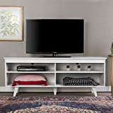 60 entertainment center - WE Furniture 58-inch Wood Simple Contemporary Console White White Finish