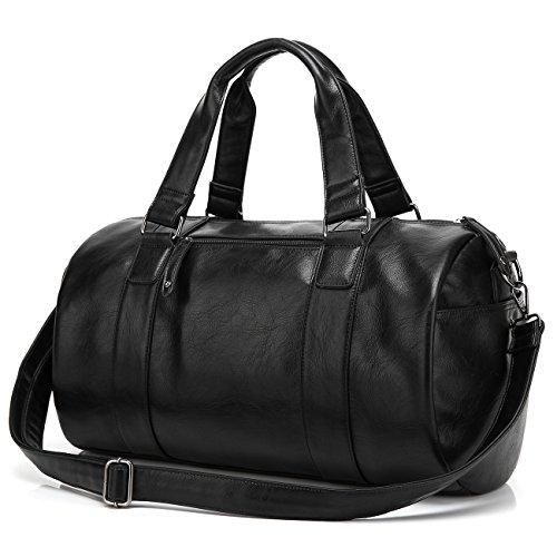 baosha hb 02 unisex pu leder weekender schwarz weekender bag. Black Bedroom Furniture Sets. Home Design Ideas