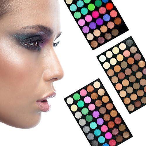 AMBITO 120 colores Paleta de sombra de ojos cosmética maquillaje Kit Set Profesional sombra de ojos del reflejo Mate Disponible Belleza Ojo Shadow Conjunto de Paleta: Amazon.es: Belleza