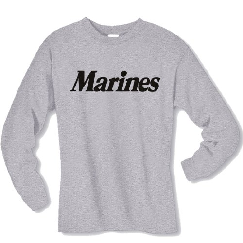 Youth Marines Long Sleeve T-Shirt in gray - Medium