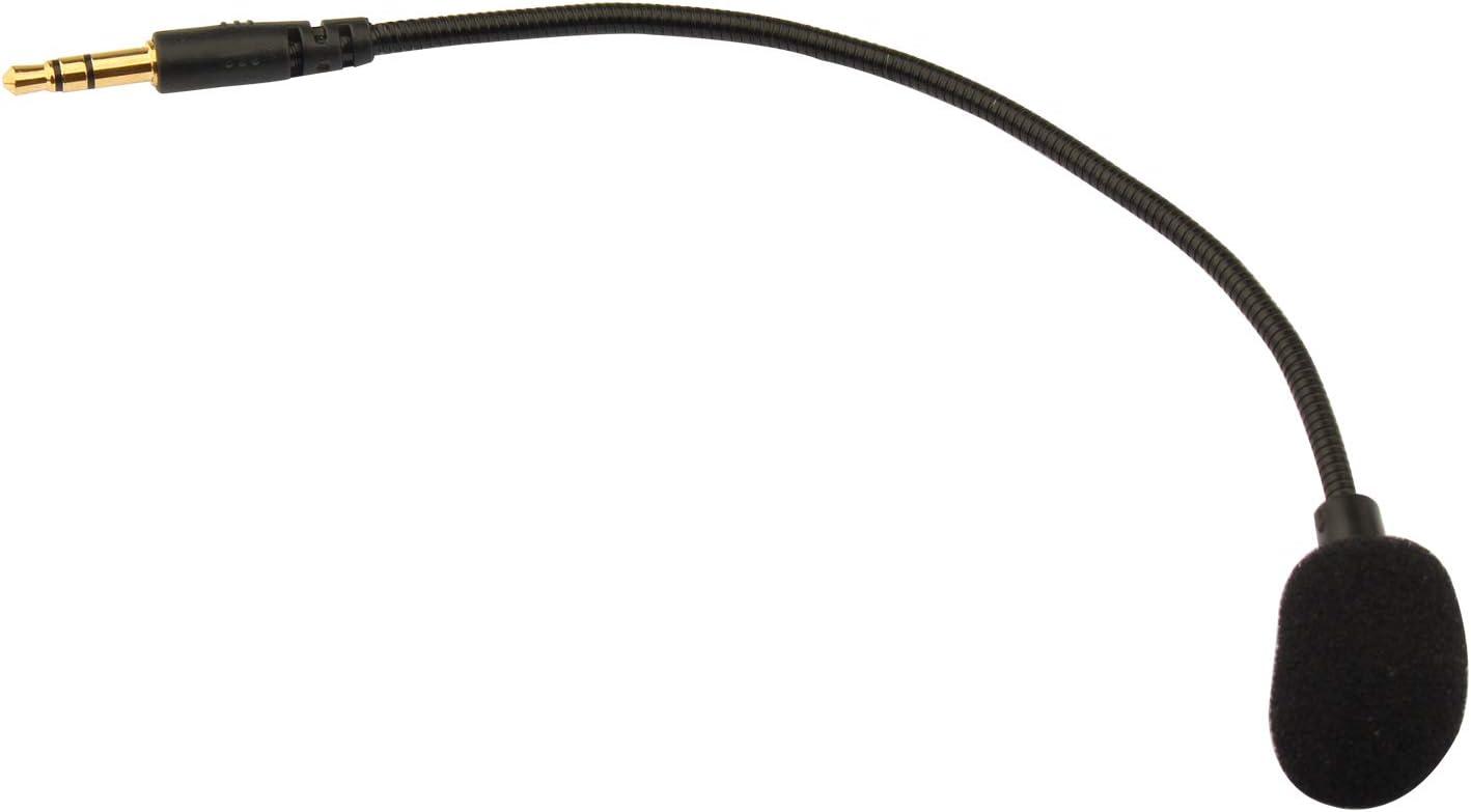 Futheda - Micrófono de repuesto para auriculares de juego (3,5 mm, compatible con Turtle Beach, Ear Force Xbox One, PS4 Switch Mac PC o PC
