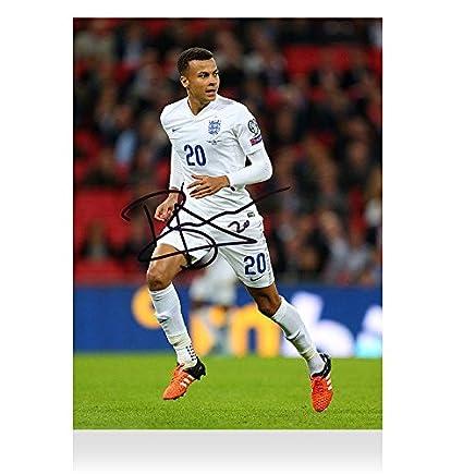 new arrival 5ea30 ecd64 Dele Alli Signed Autograph England Photo - Three Lions ...