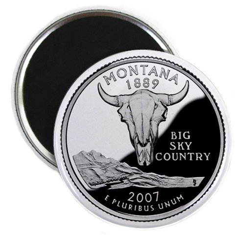 Montana State Quarter Mint Image 2.25 inch Fridge Magnet