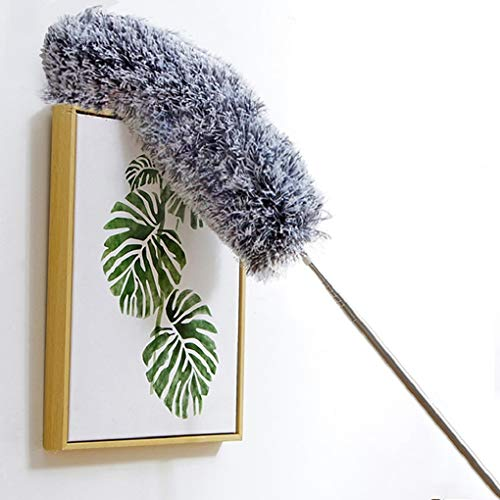 Jolitac Microfiber Duster with Extension Pole, High Reach Dusting Kit 95 inches, Bendable Washable Duster Cleaning Kit for Roof, Ceiling Fan, Blinds, Cobwebs, Baseboards