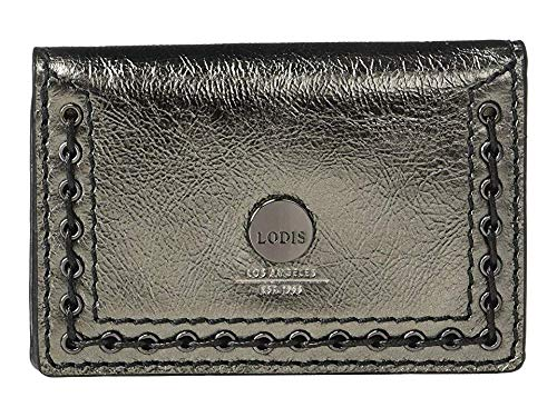 Lodis Accessories Women's Saratoga Mirror Card Case Anthracite One Size ()